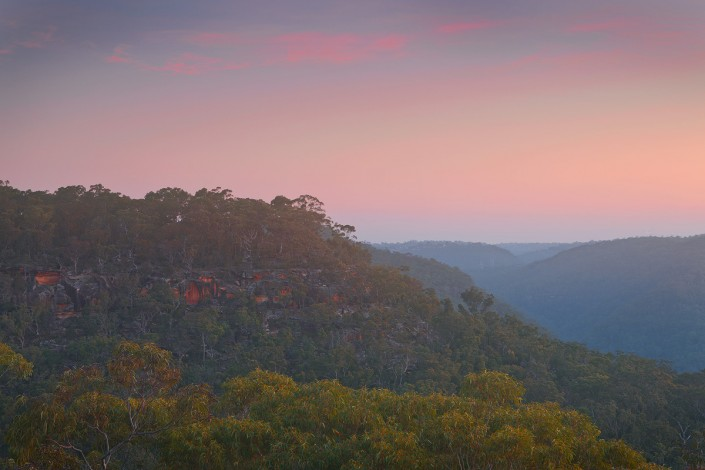 Sunset at Barnetts Lookout in Berowra, at Berowra Valley Regional Park