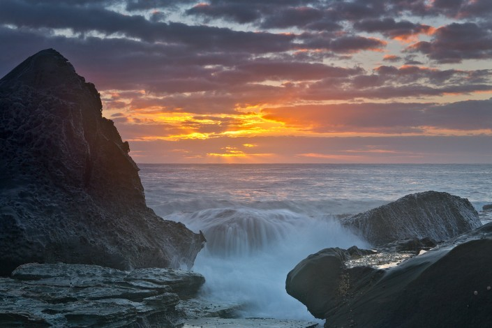 Andrew Barnes Landscape Photography - Sunrise Splash Forresters Beach