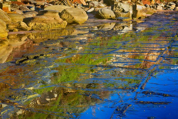 Reflections at sunrise at Forresters Beach on the NSW Central Coast