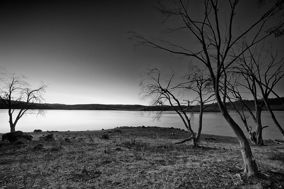 Lake jindabyne snowy mountains sunrise mono landscape photography landscape photographers