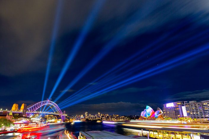 Vivid Sydney, Sydney Opera House, Sydney Harbour Bridge