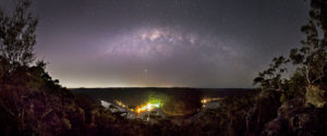 The Milky Way sets over Berowra Waters Marina