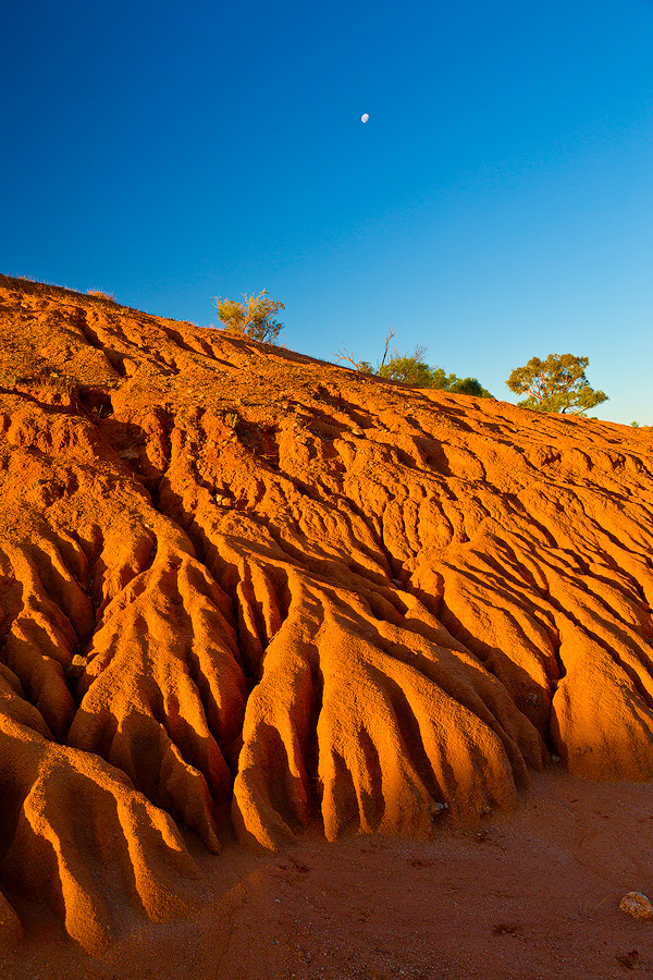 Eroded soil near Silverton in the NSW outback