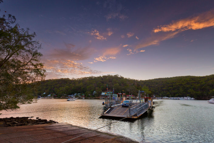 Berowra, Berowra Valley National Park, Berowra Waters, Berowra Waters Ferry, Sunset, Landscape Photography, Landscape Photography Sydney