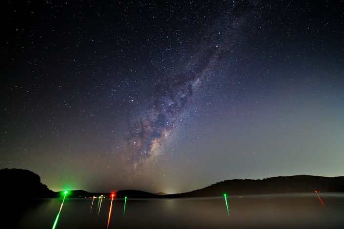 The Milky Way rises over the Hawkesbury at Brooklyn