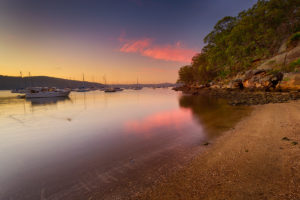 Sunrise over Parsley Bay near Brooklyn on the Hawkesbury