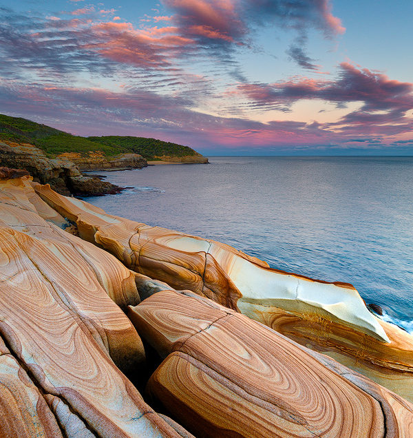 Sunset on the Bouddi Coastal Walk in Bouddi National Part near Killcare