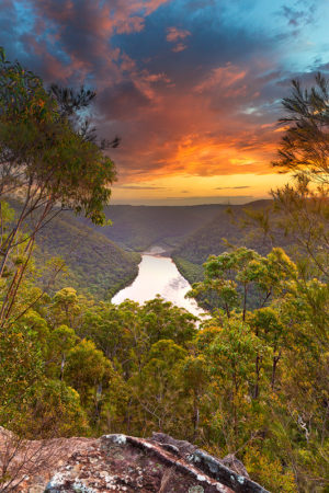Barnetts Sunset, Barnetts Lookout, Berowra Sunset, Berowra Waters